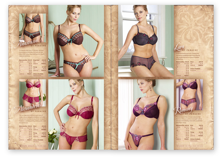 Bella Lusso catalogue layout design