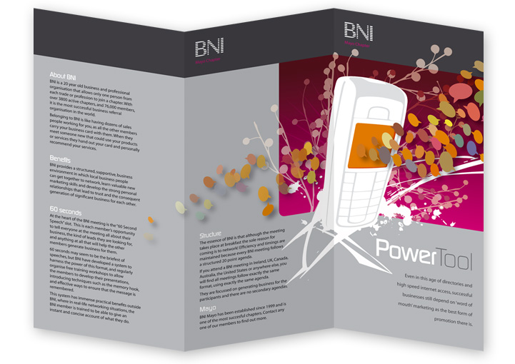 BNI Castlebar network DL leaflet outside