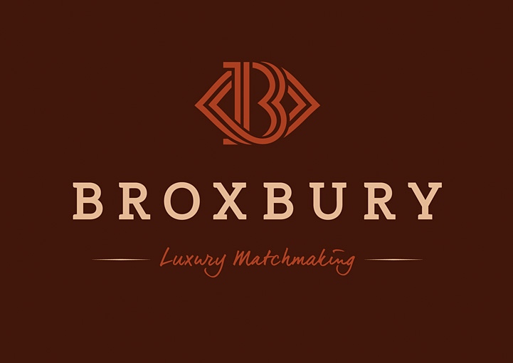 Broxbury luxury matchmaking brand design