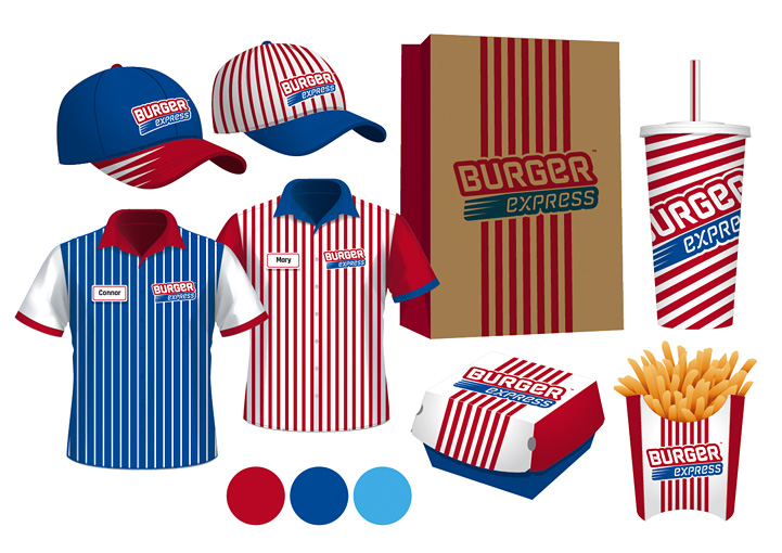 Burger Express Clothing Design Collooney