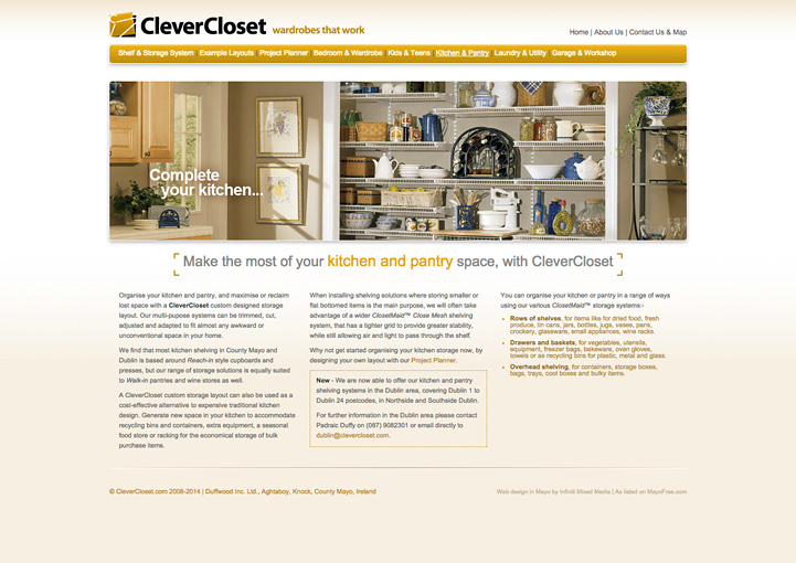 CleverCloset website design 7