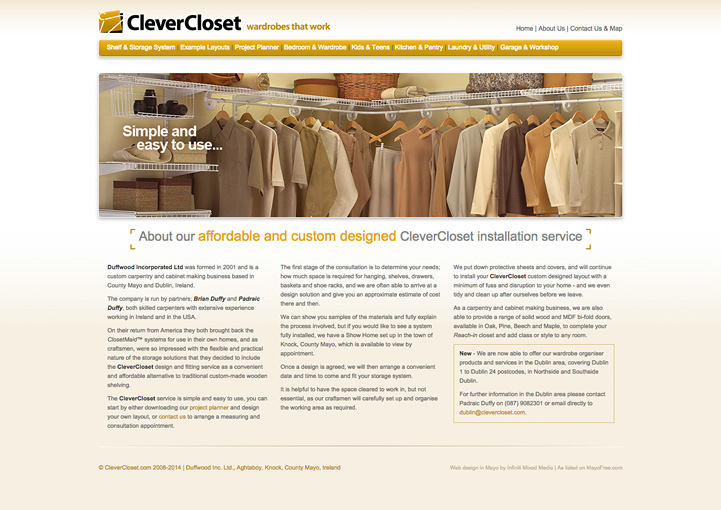CleverCloset website design 10