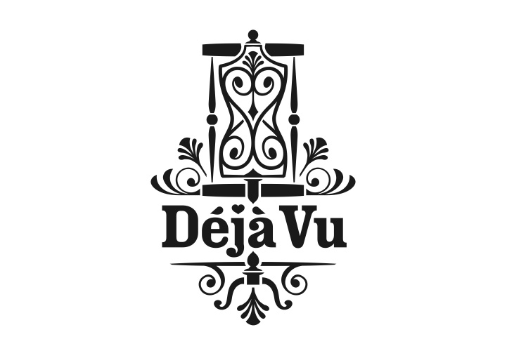 Deja Vu brand design single colour