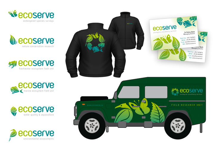 EcoServe logo design applications