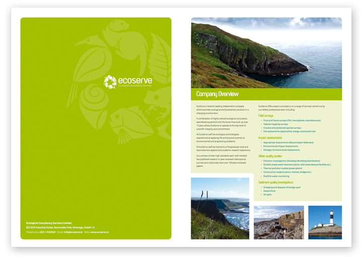 EcoServe brochure design layout 1
