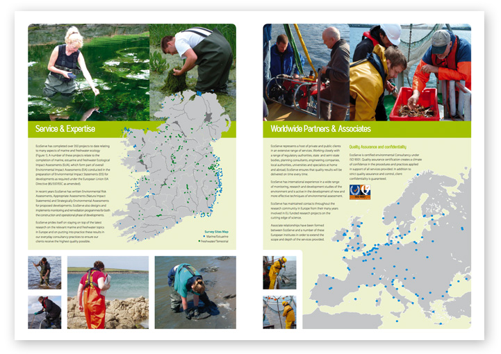 EcoServe brochure design layout 2