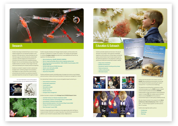 EcoServe brochure design layout 5