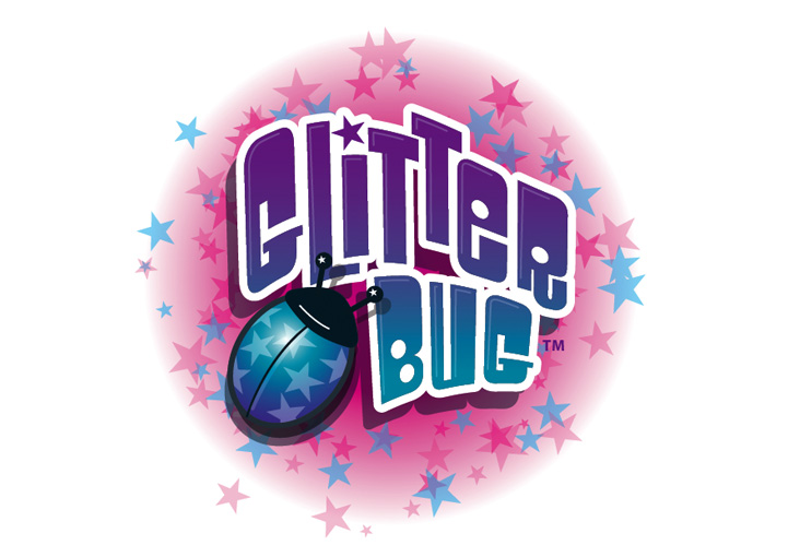 Glitterbug logo design for girls