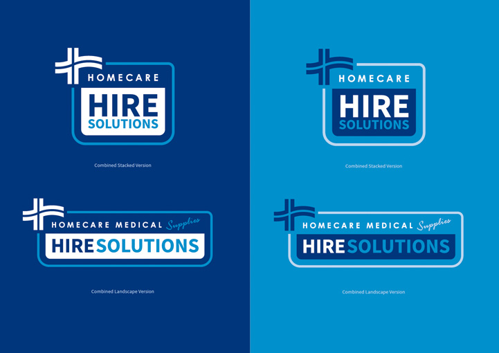 Hire Solution logo refresh variations