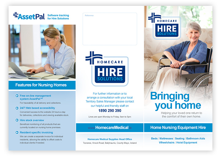Hire Solutions leaflet design