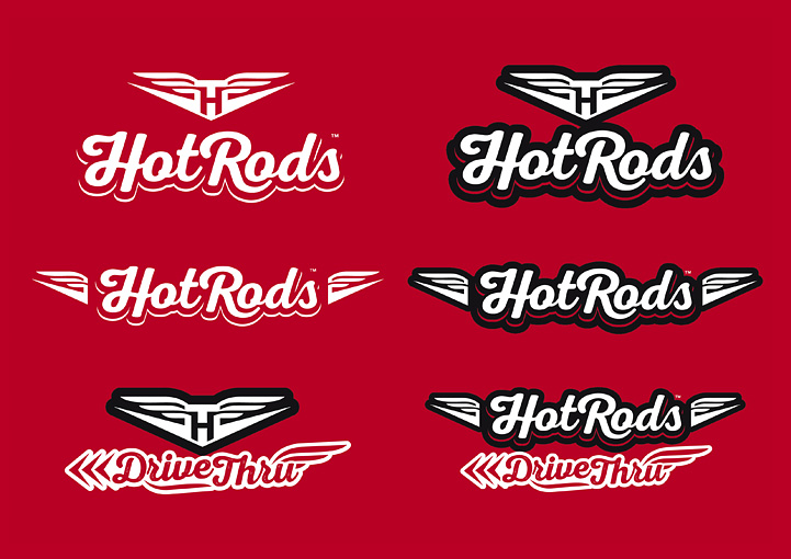HotRods Fast Food brand design development