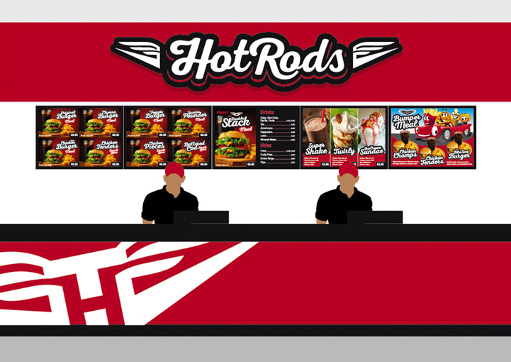 HotRods Fast Food counter design
