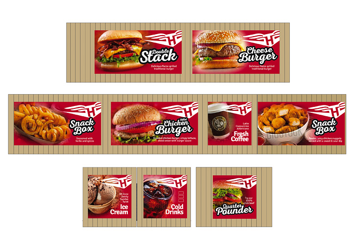 HotRods Fast Food sign designs