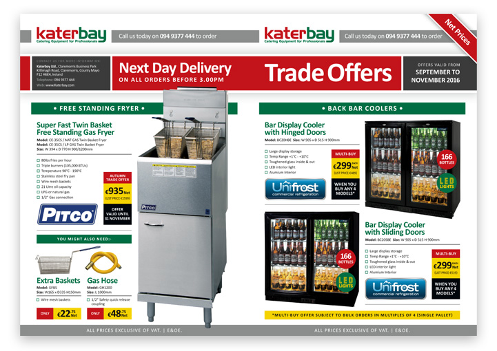 Katerbay trade offer price list design outside