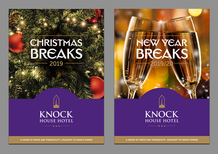 Knock House Hotel brochure designs