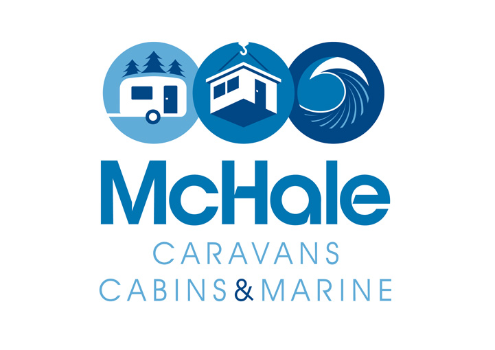 McHale Cabins, Caravans and Marine logo design