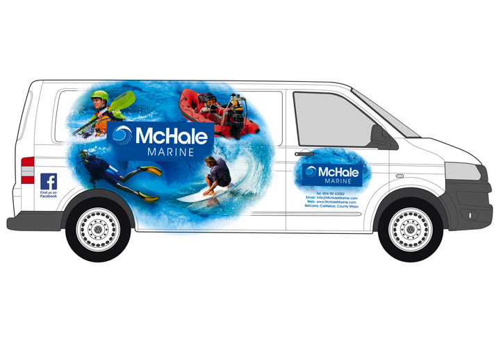 McHale Marine vehicle graphics design
