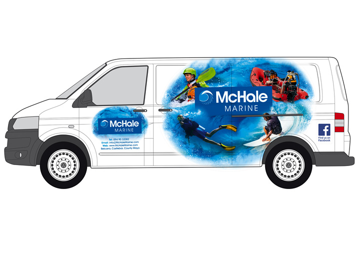 McHale Marine fleet graphics design