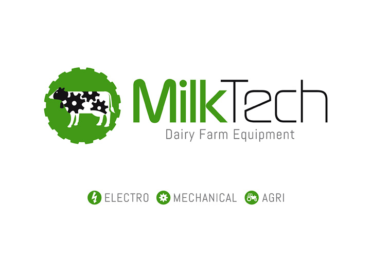 MilkTech logo design alternative layout
