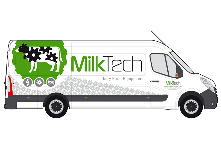MilkTech fleet graphics design