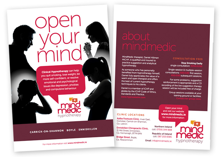 MindMedic brochure cover design