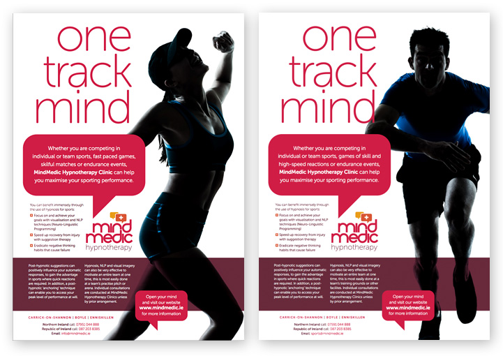 MindMedic brochure advertising poster designs
