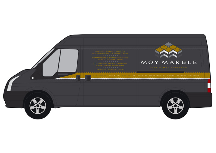 Moy Marble vehicle graphics design