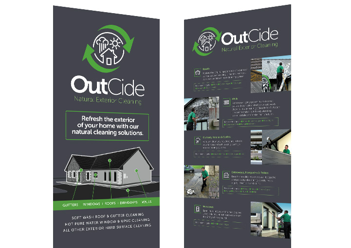 OutCide Pull Up Banner Stand Display Designs Headford