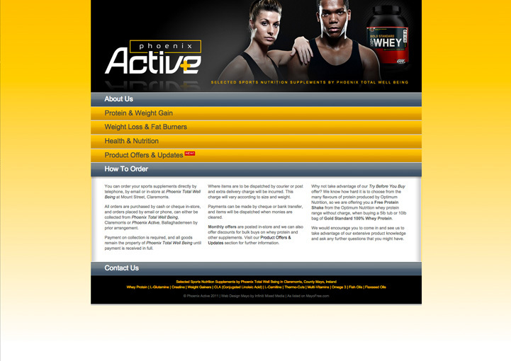 Phoenix Active web page design