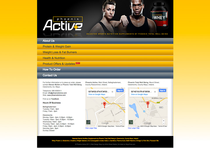 Phoenix Active website design