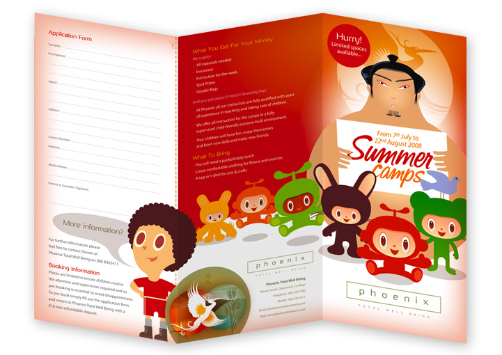 Phoenix Total Well-Being summer camps leaflet design