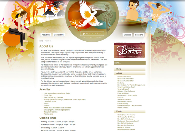 Phoenix Total Well-Being web design