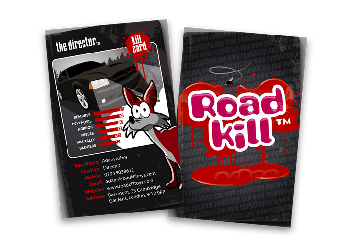 Roadkill Toys business card design