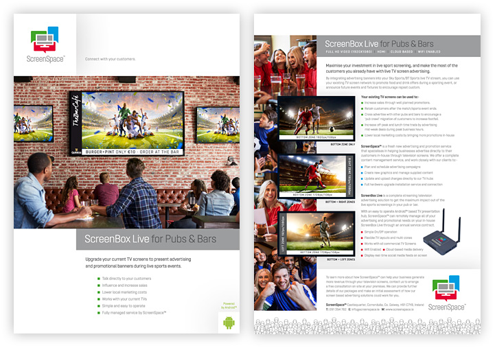 ScreenSpace brochure design