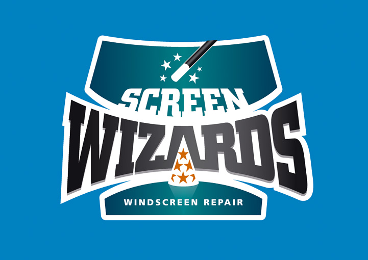Screen Wizards logo design