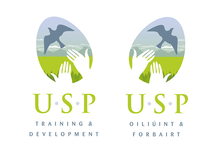 USP Training and Development logo design