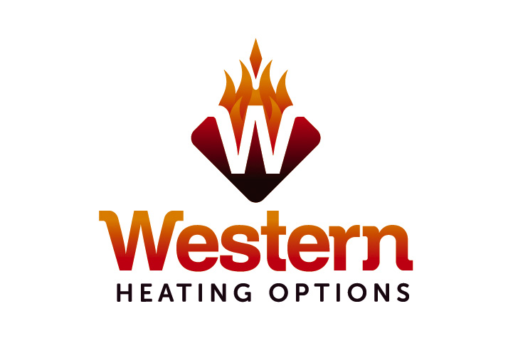 Western Heating Options Logo Design Knock