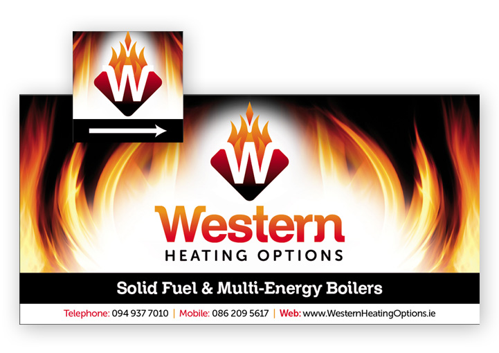 Western Heating Options sign design