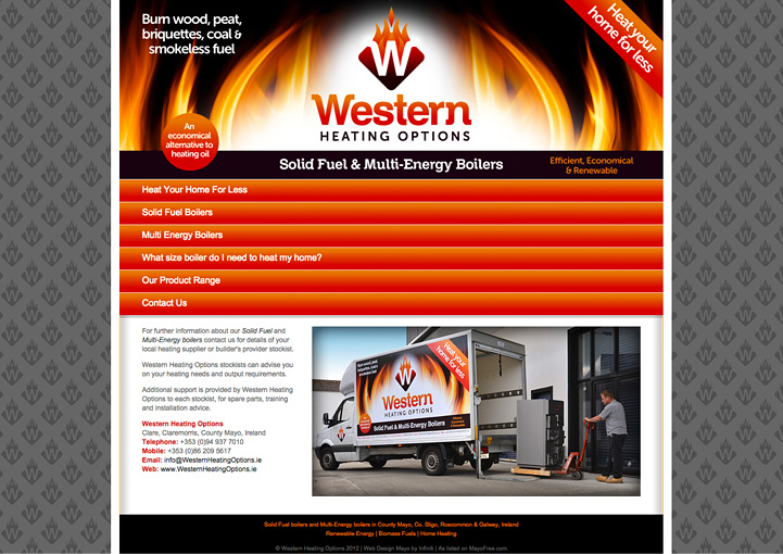 Western Heating Options web design